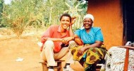 10 Pictures of a 26 Year old Obama Connecting with his African Roots
