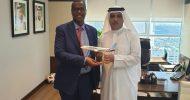 Sawirro: Madaxweynaha Puntland oo La Kulmay Madaxda Shirkadda Fly Dubai.