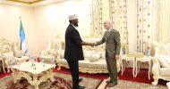 Sawirro: Axmed Maxamed Islaam oo la kulmay wafdi kasocday Beesha Caalamka oo uu hogaaminayay Wakiilka UN ka ee Somalia James Swan
