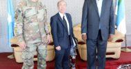 Sawirro: Madaxweynaha Dowlad Goboleedka Jubbaland oo Kismayo ku qaabilay Yamamoto iyo Taliyaha howlgalka Africom
